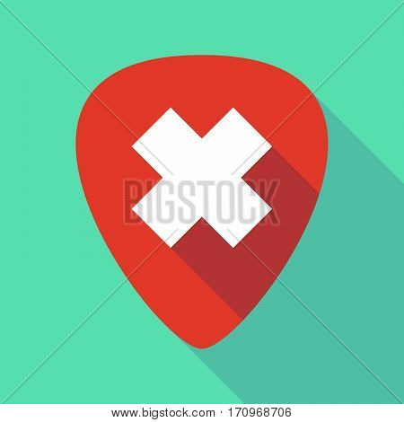 Long Shadow Guitar Pick With An Irritating Substance Sign