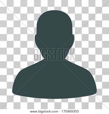 User Account icon. Vector illustration style is flat iconic symbol soft gray color transparent background. Designed for web and software interfaces.