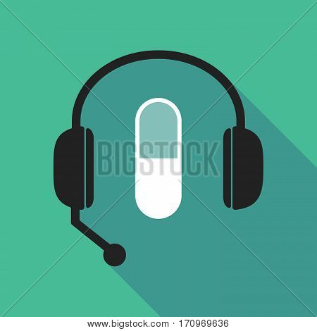 Long Shadow Headphones With A Pill