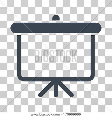 Projection Board icon. Vector illustration style is flat iconic symbol smooth gray color transparent background. Designed for web and software interfaces.