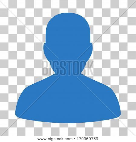 User Account icon. Vector illustration style is flat iconic symbol smooth blue color transparent background. Designed for web and software interfaces.
