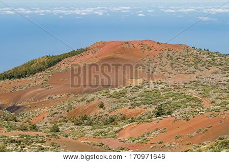 Colorful landscape of El Teide national park Tenerife Canary islands Spain