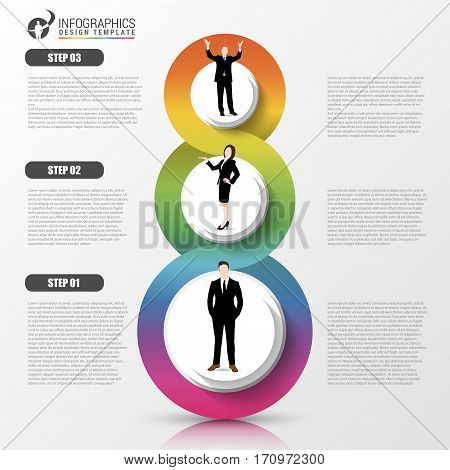 Business concept with steps. Infographic design template. Vector illustration