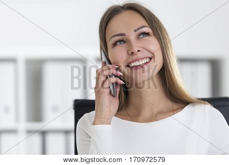 Portrait Of Businesswoman With A Smartphone
