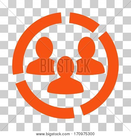 Demography Diagram icon. Vector illustration style is flat iconic symbol orange color transparent background. Designed for web and software interfaces.