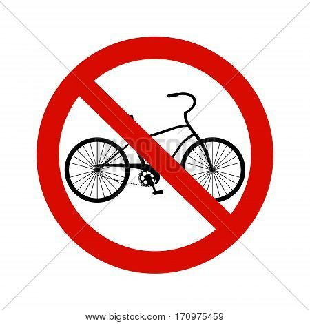 Forbidding Vector Sign No bicycle isolated on white.