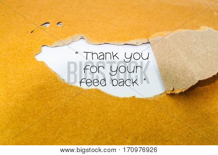 Thank you for your feedback on brown envelope