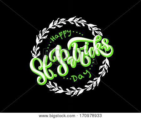 Vector Illustration Of Saint Patrick's Day Logotype