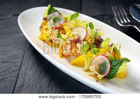 Colorful Lobster Meat Dish
