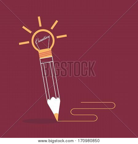 Pencil write on brown background Creative writing and storytelling concept