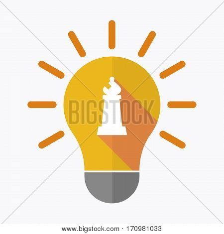 Isolated Light Bulb With A Bishop    Chess Figure