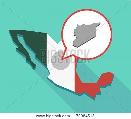 Long Shadow Mexico Map With  The Map Of Syria