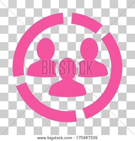 Demography Diagram icon. Vector illustration style is flat iconic symbol pink color transparent background. Designed for web and software interfaces.