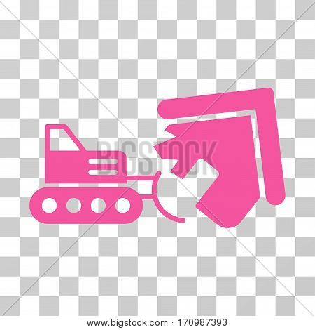 Demolition icon. Vector illustration style is flat iconic symbol pink color transparent background. Designed for web and software interfaces.