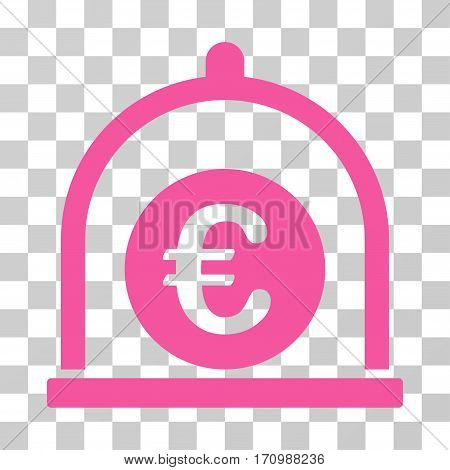 Euro Standard icon. Vector illustration style is flat iconic symbol pink color transparent background. Designed for web and software interfaces.