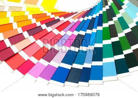Color palette spectrum, paint guide samples catalog