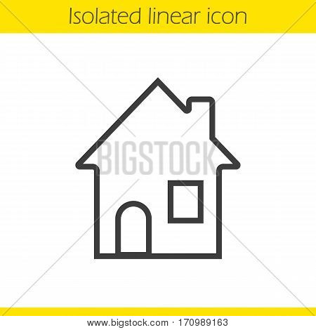 House linear icon. Cottage thin line illustration. Home contour symbol. Vector isolated outline drawing