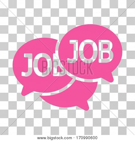 Labor Market icon. Vector illustration style is flat iconic symbol pink color transparent background. Designed for web and software interfaces.