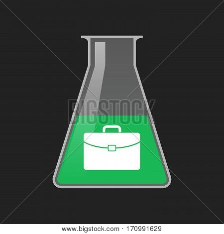 Isolated Test Tube With  A Briefcase