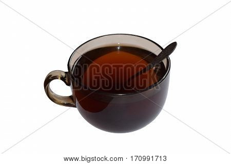 cup of tea with a spoon of sugar