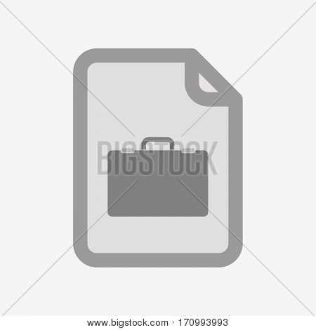 Isolated Document With  A Briefcase