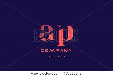 P A Ap Company Small Letter Logo Icon Design