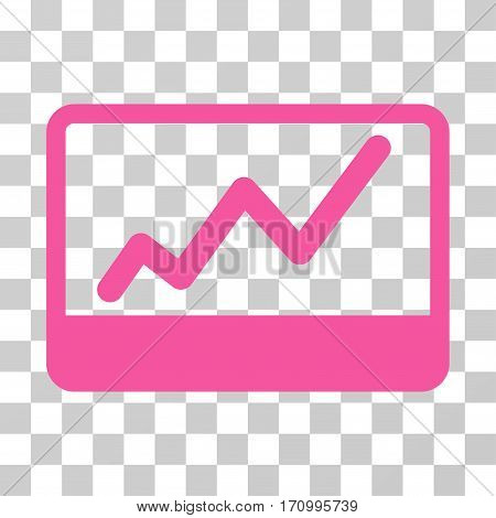 Stock Market icon. Vector illustration style is flat iconic symbol pink color transparent background. Designed for web and software interfaces.