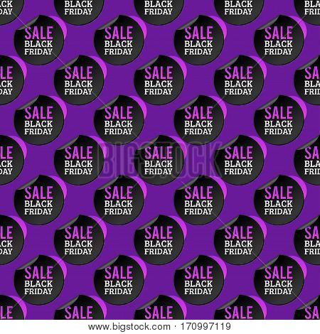 Sale badge stickers percent discount symbols vector illustration. Premium quality vintage coupon retail advertising element. Promotion ribbon shopping card black friday seamless pattern.