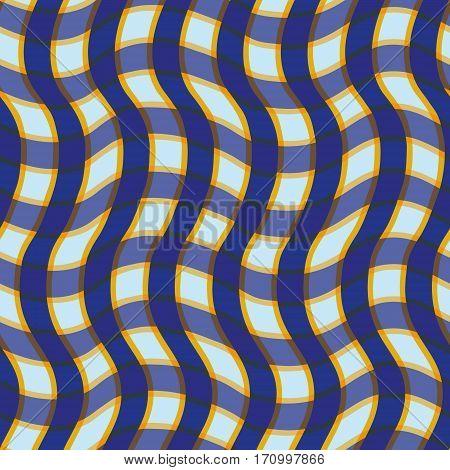 Seamless pattern scottish cell pattern wirh waves