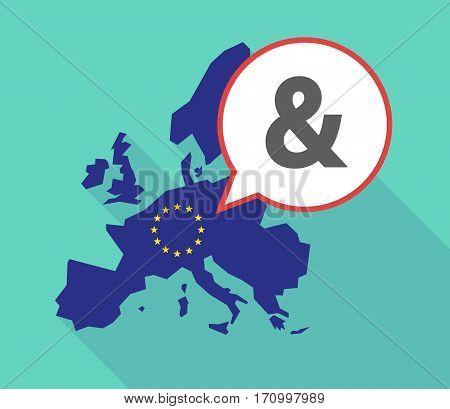 Long Shadow Eu Map With An Ampersand