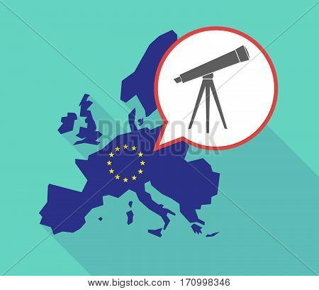 Long Shadow Eu Map With A Telescope