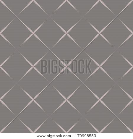 Seamless pattern violet elements on grey background.