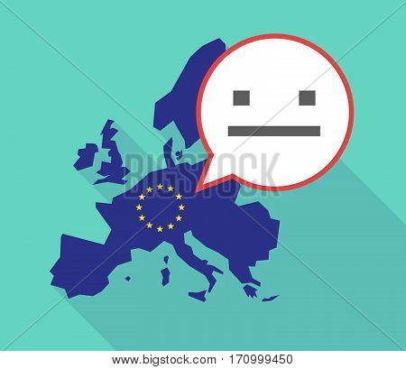 Long Shadow Eu Map With A Emotionless Text Face