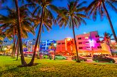 Miami Beach, Florida, USA on Ocean Drive. poster
