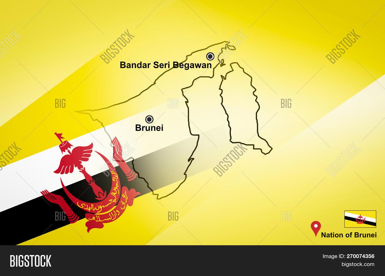 Map Of Asia Brunei.Brunei Map Bandar Seri Image Photo Free Trial Bigstock