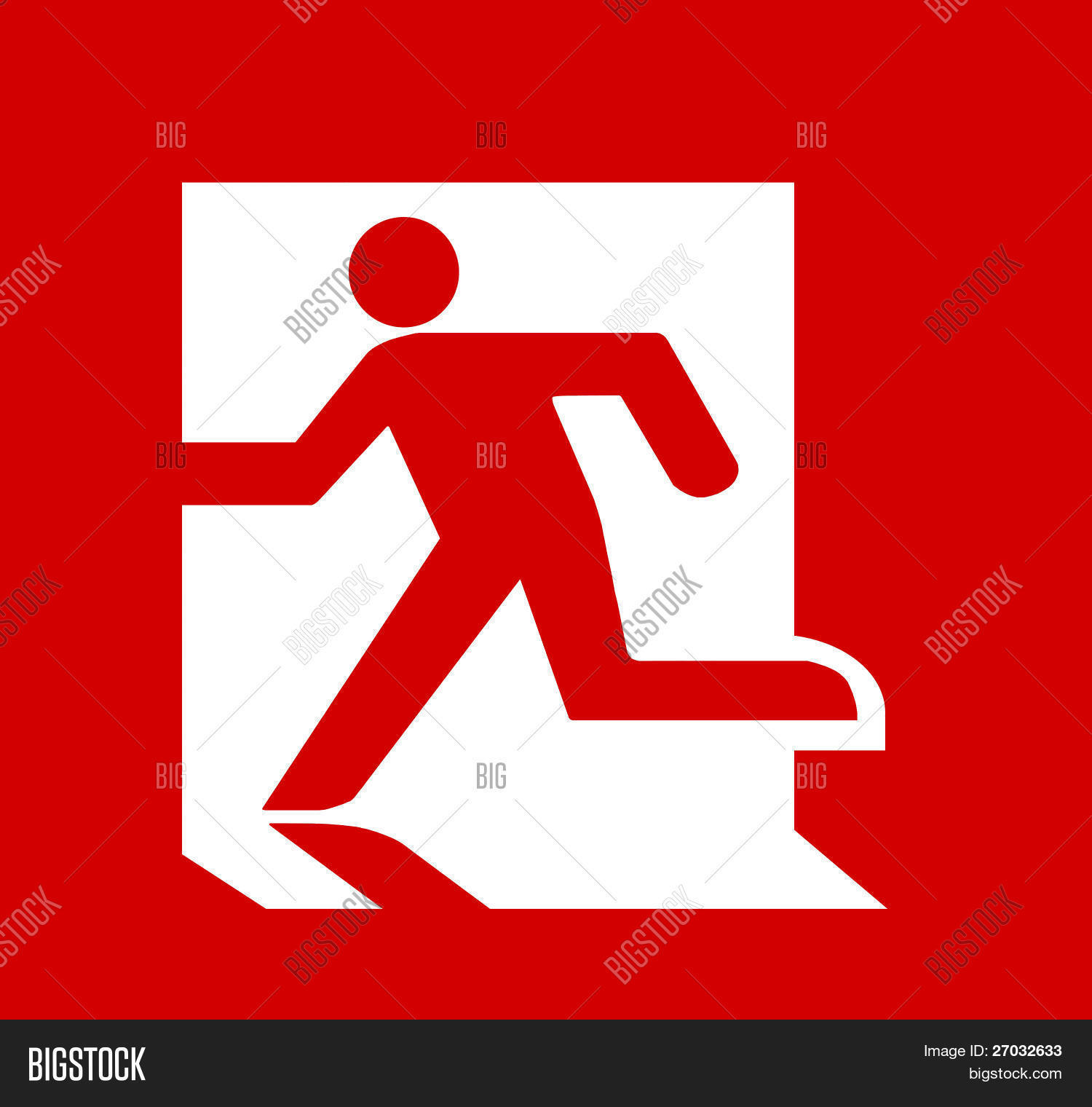 Symbol fire emergency exit sign image photo bigstock symbol of fire emergency exit sign isolated on red head left buycottarizona Images