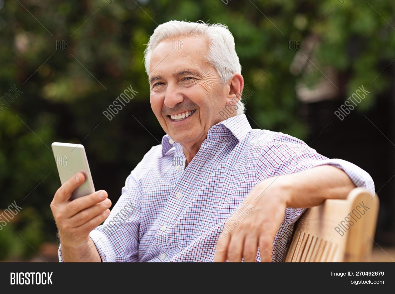 8d14bcb0e Senior Man Using Image & Photo (Free Trial)   Bigstock