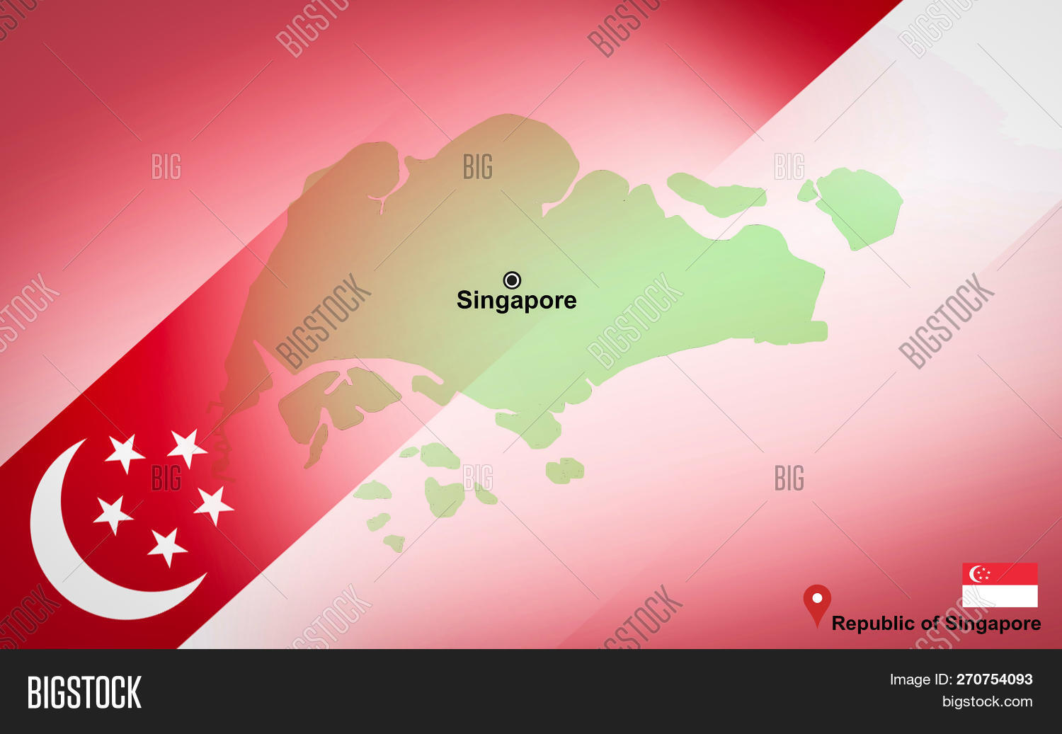 Singapore On The Map Of Asia.Singapore Map Location Image Photo Free Trial Bigstock