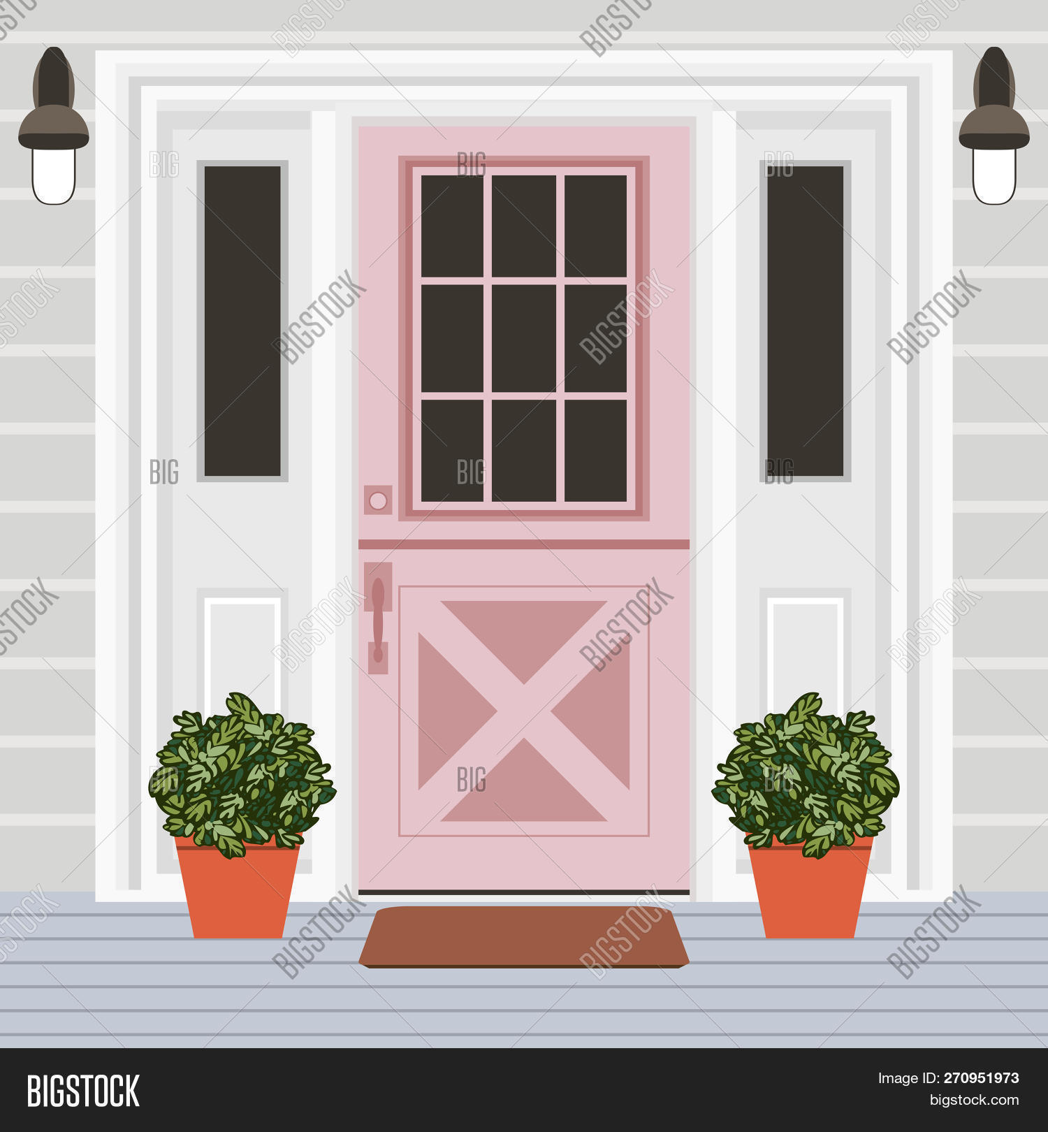 House Door Front Vector & Photo (Free Trial) | Bigstock on