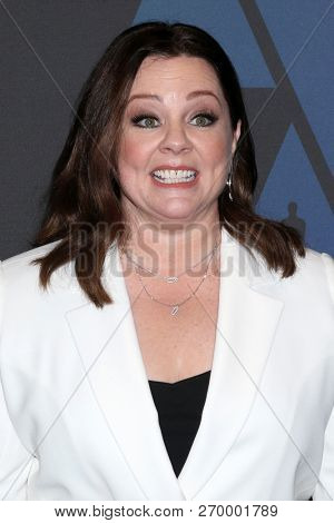 LOS ANGELES - NOV 18:  Melissa McCarthy at the 10th Annual Governors Awards at the Ray Dolby Ballroom on November 18, 2018 in Los Angeles, CA