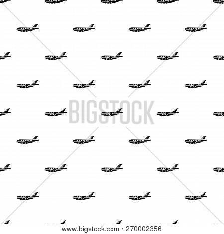 Passenger Airplane Icon. Simple Illustration Of Passenger Airplane Icon For Web