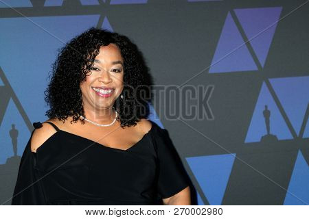 LOS ANGELES - NOV 18:  Shonda Rhimes at the 10th Annual Governors Awards at the Ray Dolby Ballroom on November 18, 2018 in Los Angeles, CA