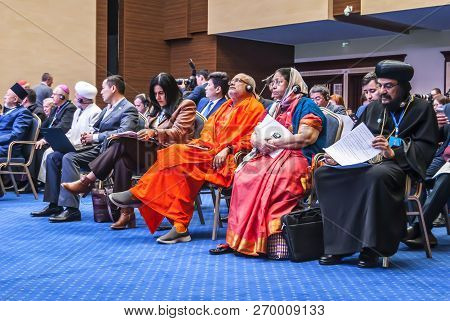 Astana, Kazakhstan. October 11, 2018. The Participants Of The Vi Congress Of The Leaders Of The Worl