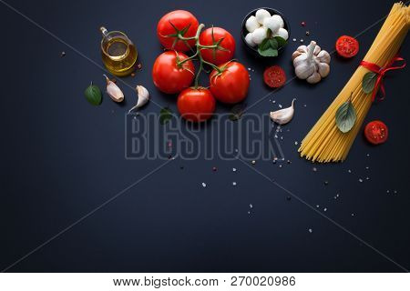 ingredient for spaghetti italian food - food and drink