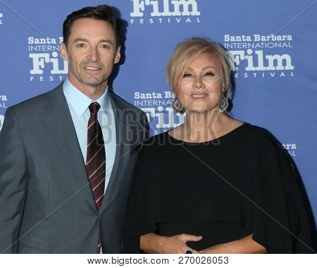 LOS ANGELES - NOV 19:  Hugh Jackman, Deborra-lee Furness at the SBIFF Kirk Douglas Award Honoring Hugh Jackman at the RItz Carlton Bacara on November 19, 2018 in Santa Barbara, CA