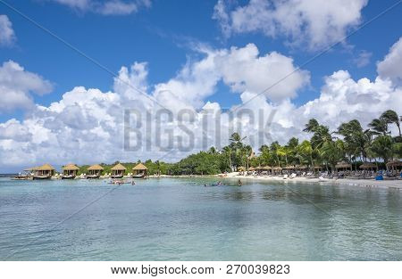 Beach Scene On The Beautiful And Tranquil Renaissance Islands Of Aruba