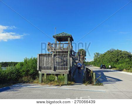 Sanibel, Fl - November 11:  Observation Tower Ding Darling Wildlife Refuge Sanibel Island Florida 20