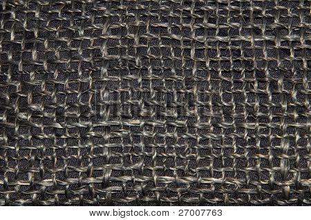 black fabric close up