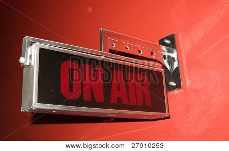 Em sinal de ar no estúdio de tv