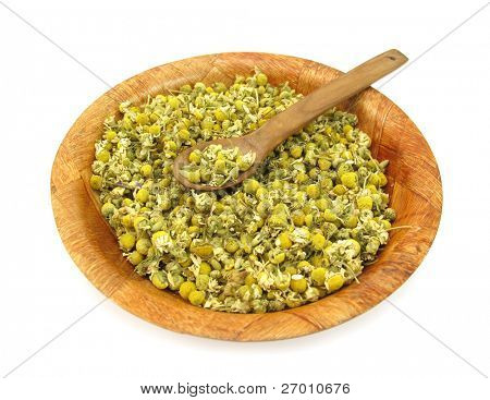 Chamomile dried for tea poster